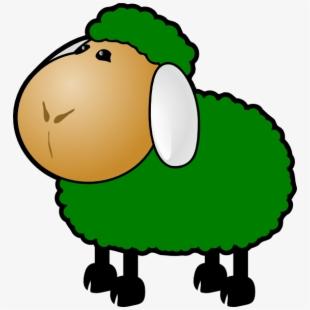 Outline clip art free. Lamb clipart green sheep