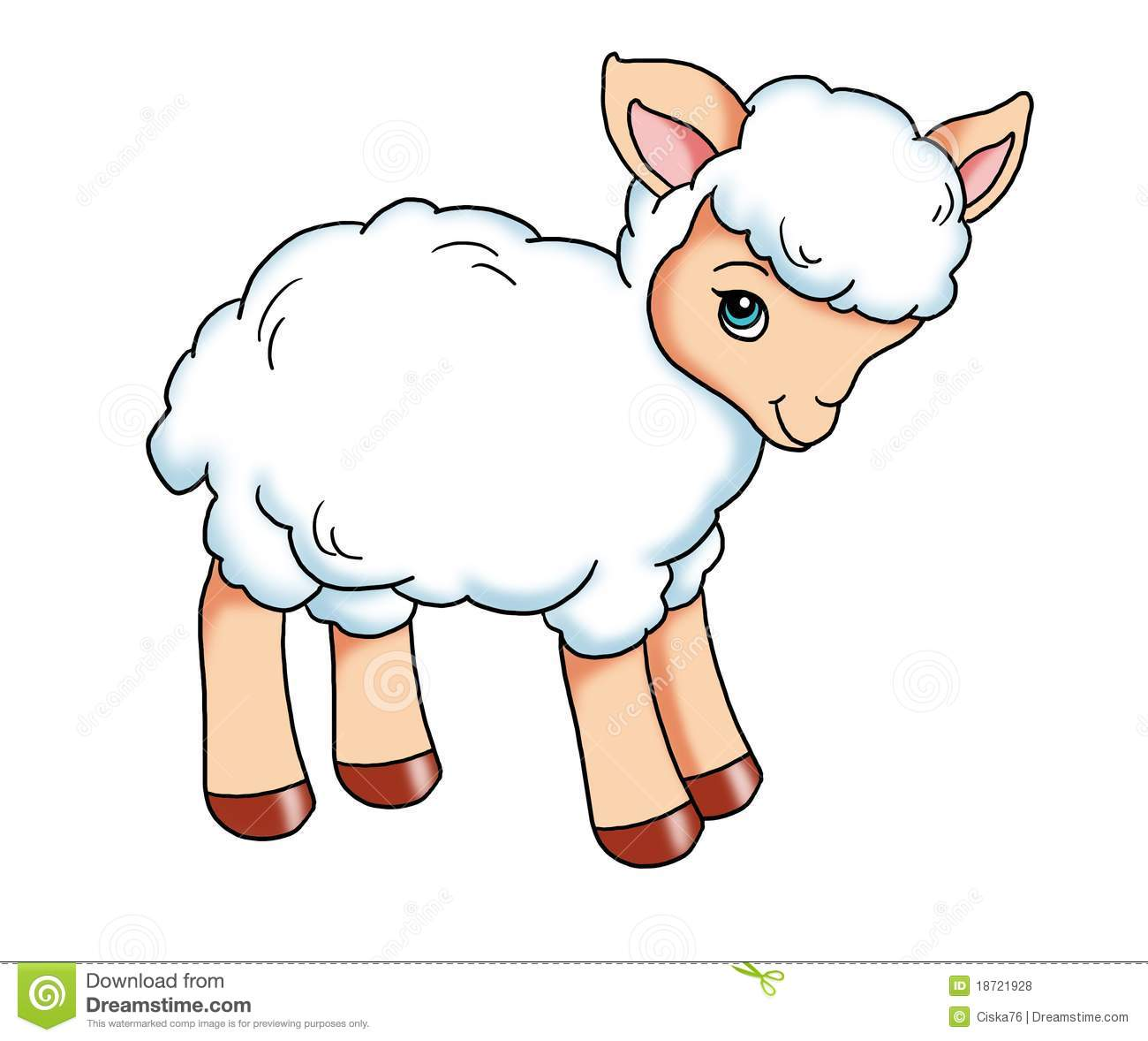 Look at clip art. Lamb clipart kid