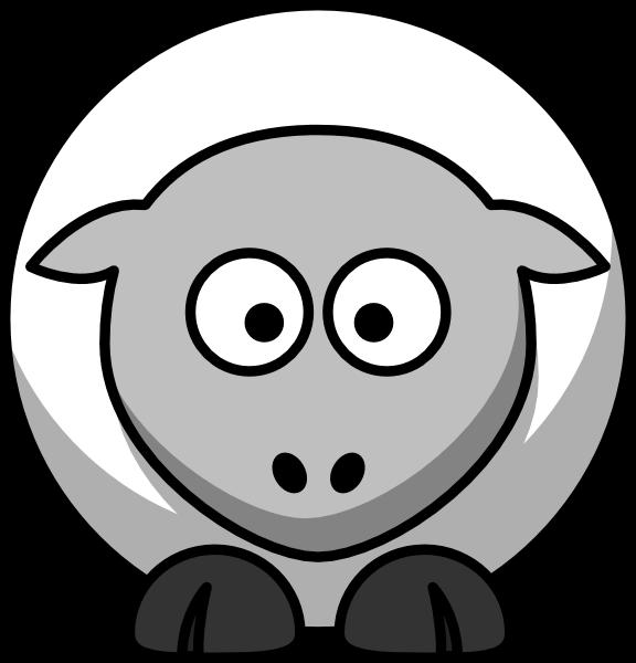 Lamb clipart lamb head. Free black cliparts download
