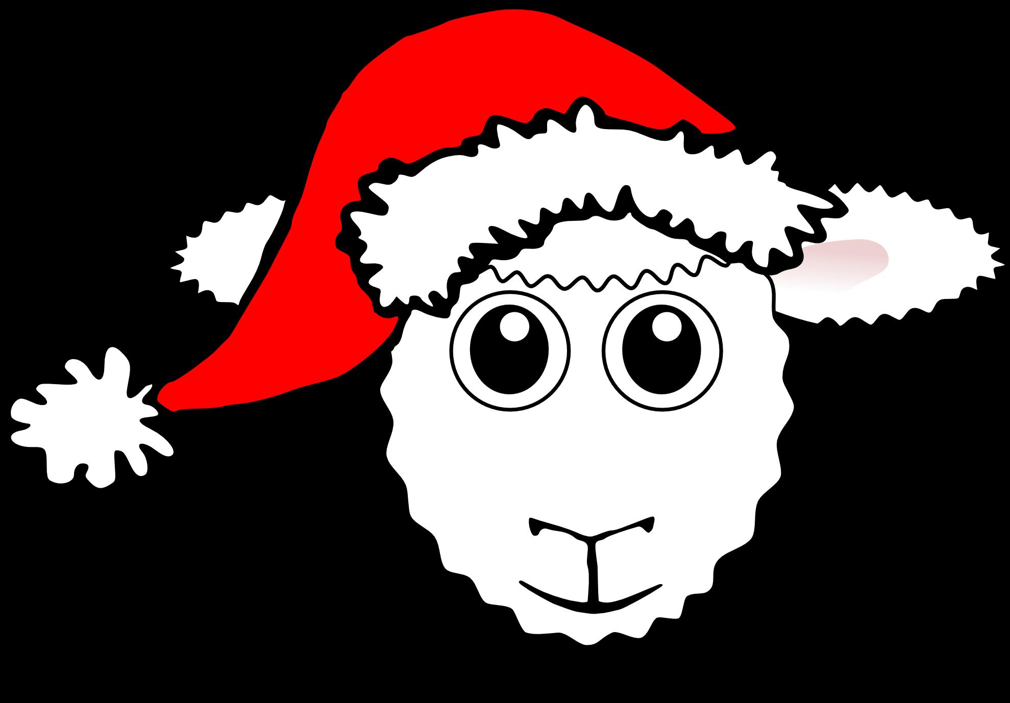 Sheep cliparts zone black. Lamb clipart lamb head