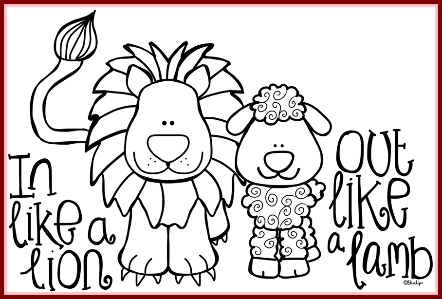 Astonishing colouring page preschool. Lamb clipart lion lamb