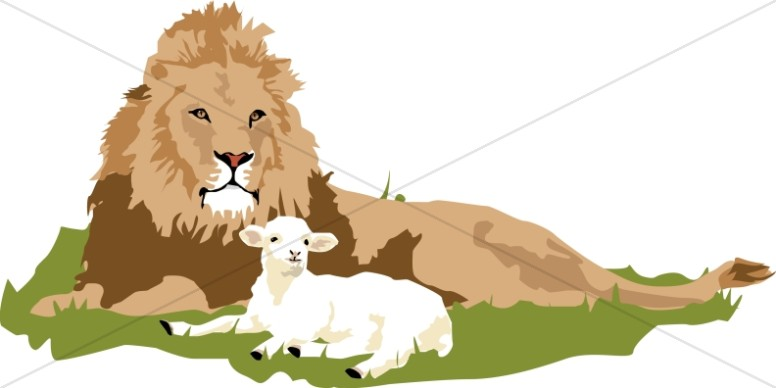 Lamb clipart lion lamb. The and old testament