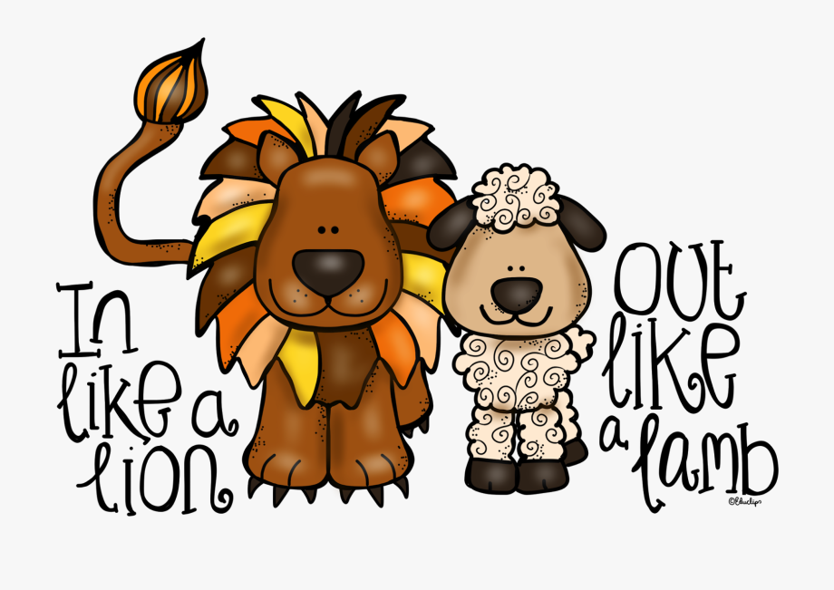 Head like a out. Lamb clipart lion lamb
