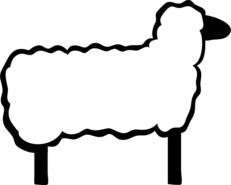 File sheep svg wikimedia. Lamb clipart outline