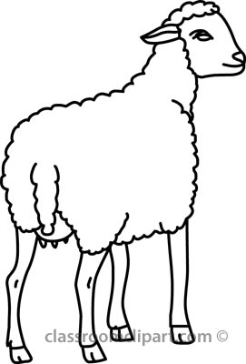 Lamb clipart outline. Sheep free download best