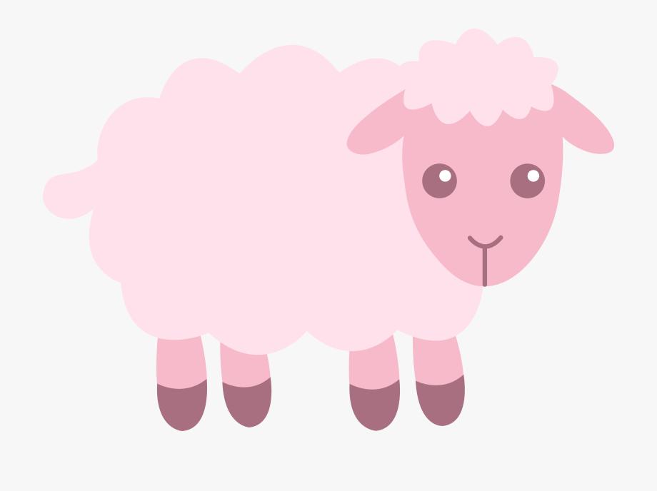 Lamb clipart pink lamb. Baby sheep cliparts cartoons