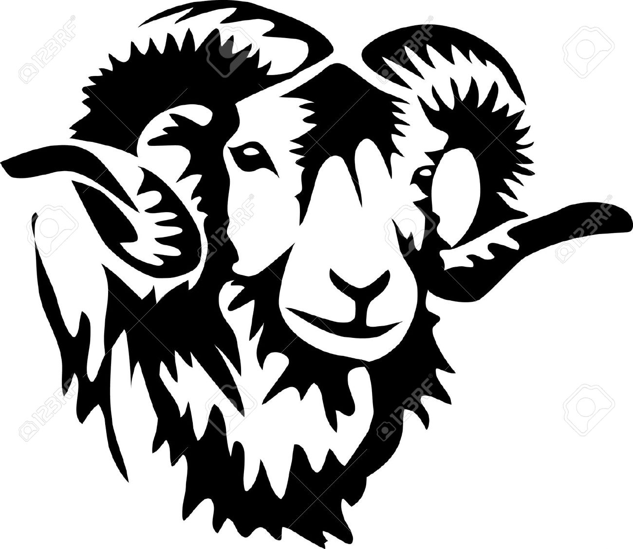 Lamb clipart ram. Animal free download best