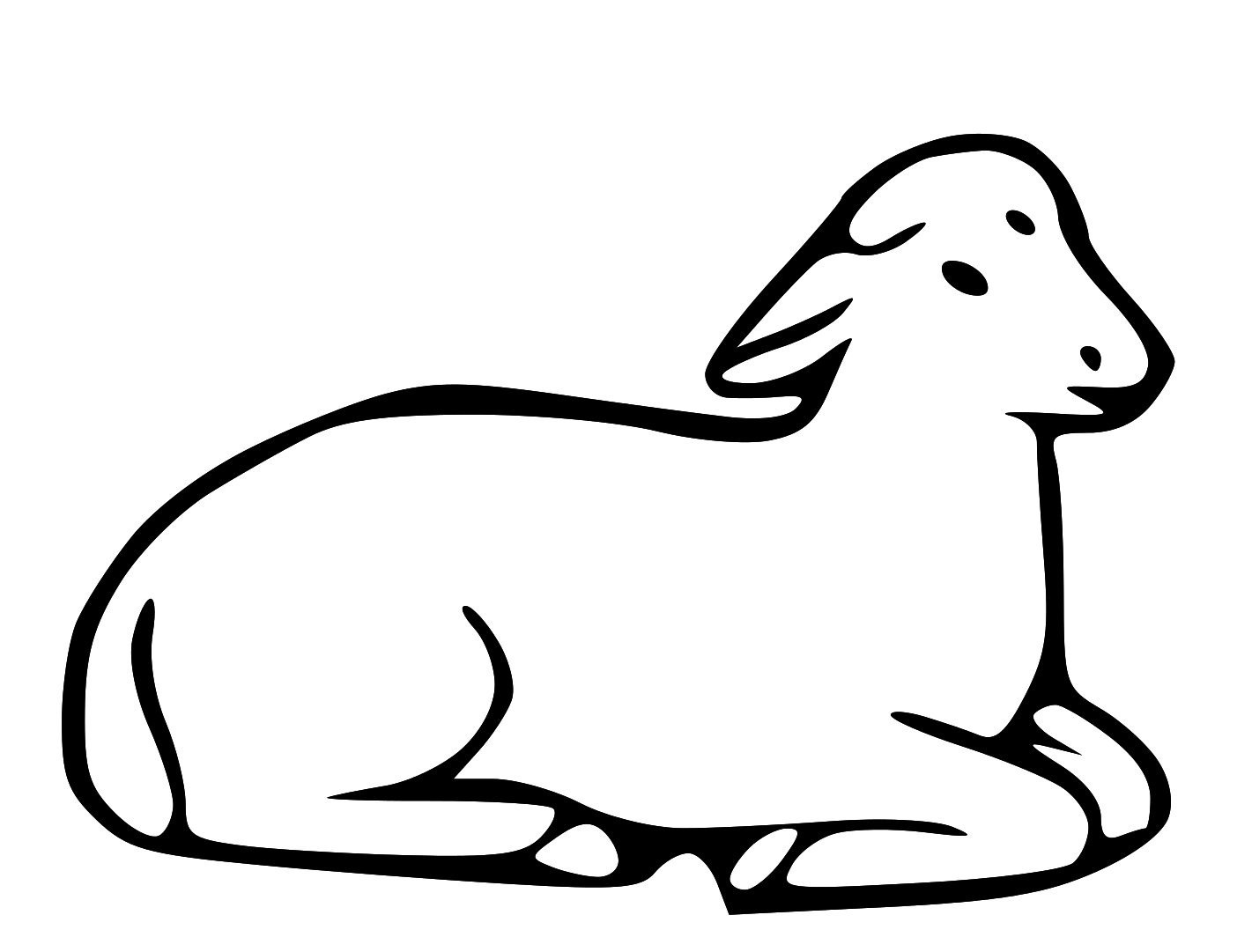 Lion and outline clip. Lamb clipart religious