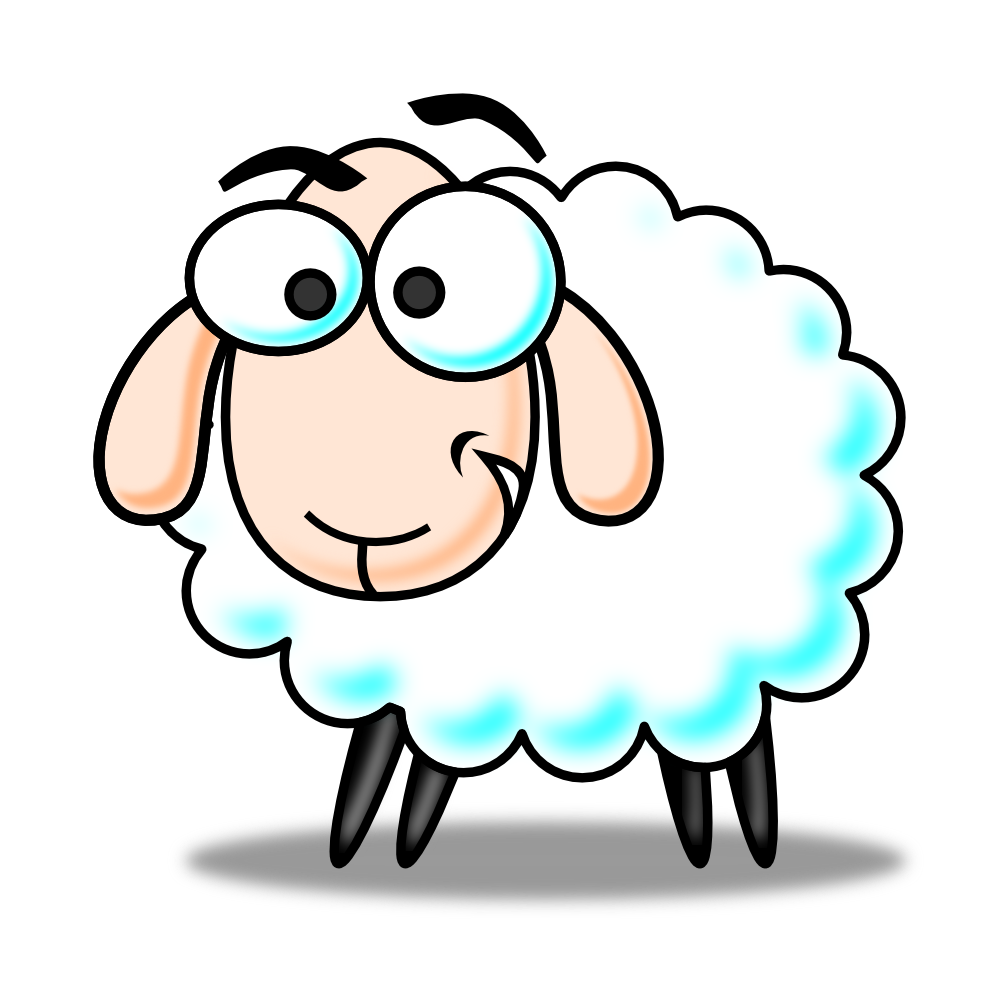 collection of sheep. Lamb clipart sad