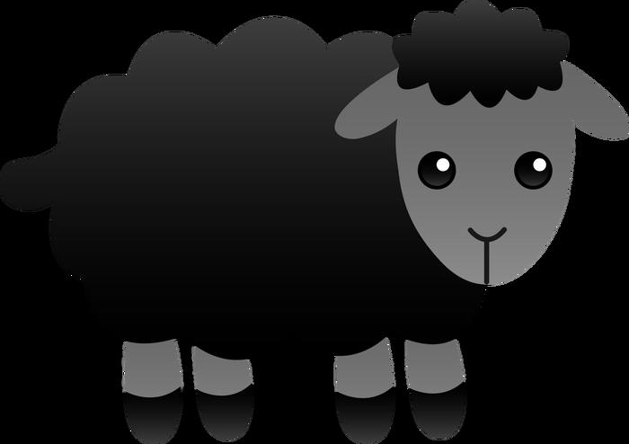 I m the blacksheep. Lamb clipart scared
