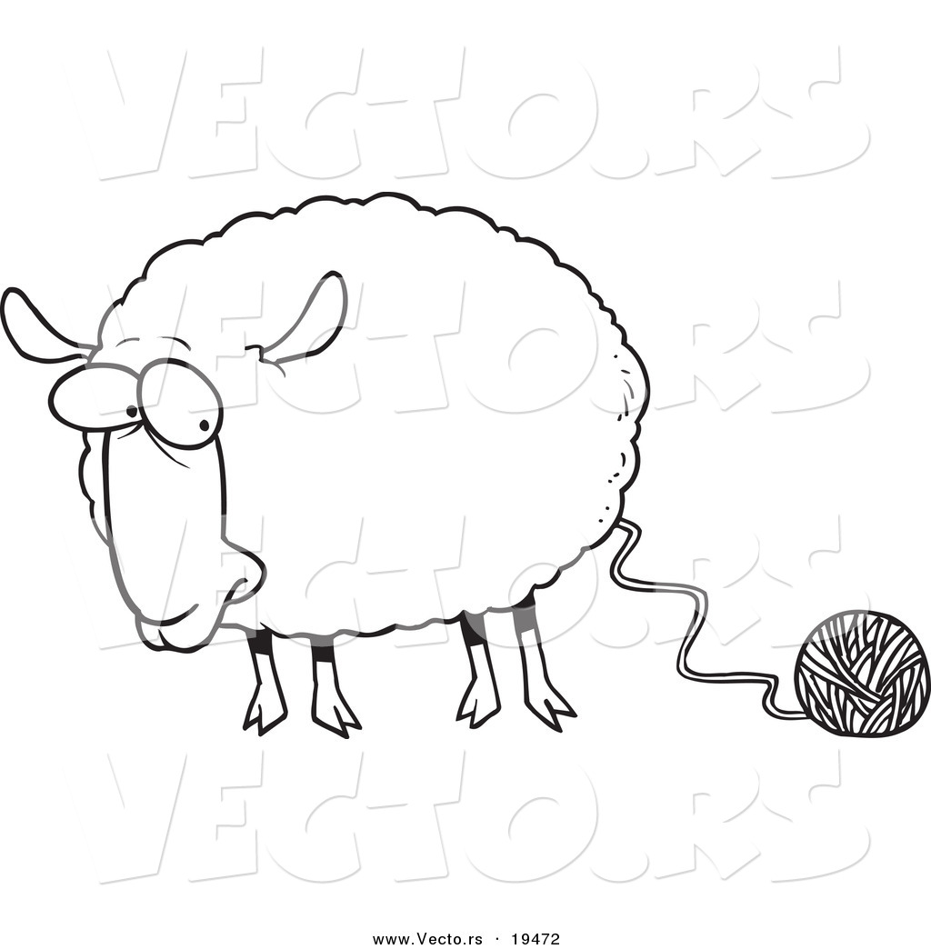 Lamb clipart sheep wool. Pencil and in co