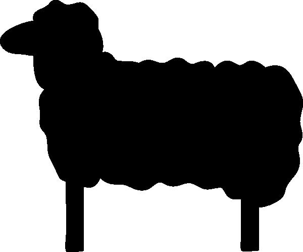 Lamb clipart silhouette. Black sheep clip art
