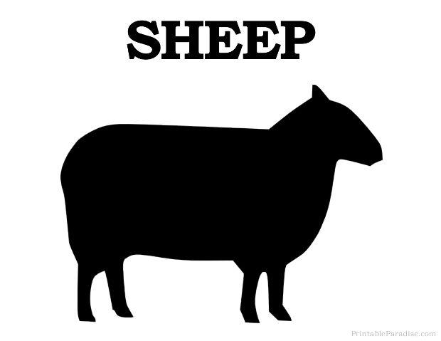 Lamb clipart silhouette. Printable sheep print free