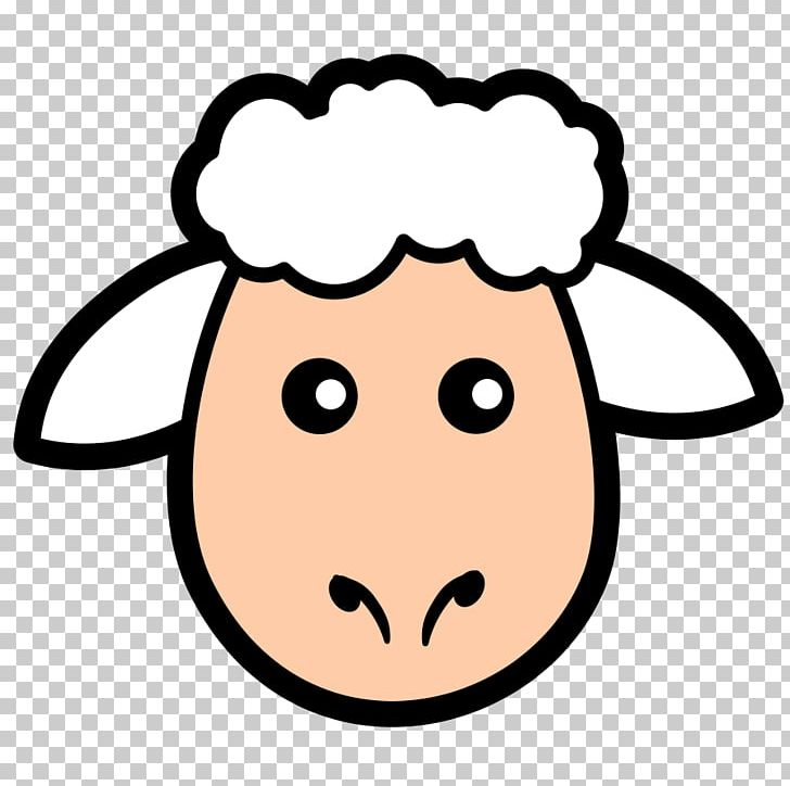 Sheep and mutton face. Lamb clipart simple