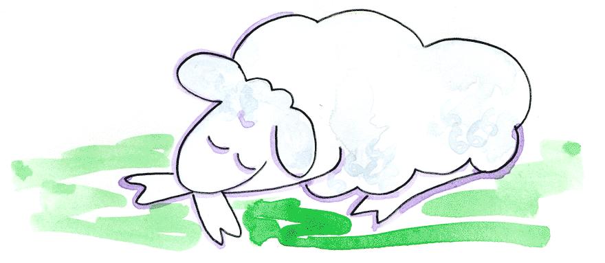 Sheep clipart asleep. Free lamb sleeping download
