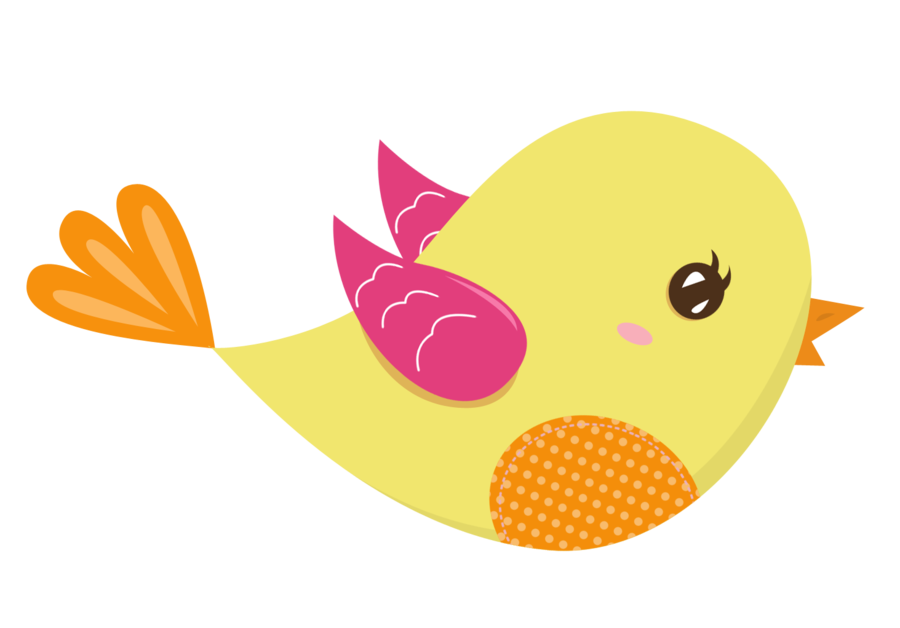 Pink and Yellow Birds