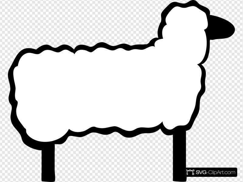 Cartoon clip art icon. Lamb clipart svg