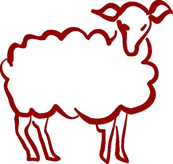 Red clip art at. Lamb clipart svg