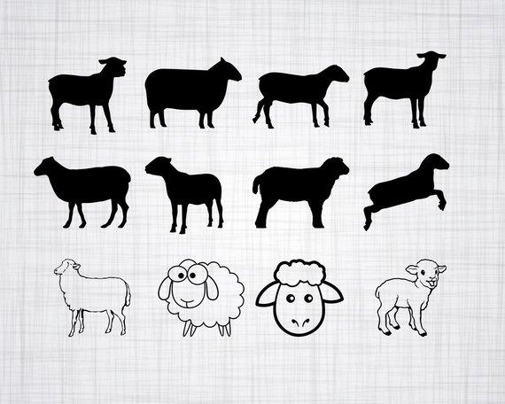 Sheep bundle cut files. Lamb clipart svg