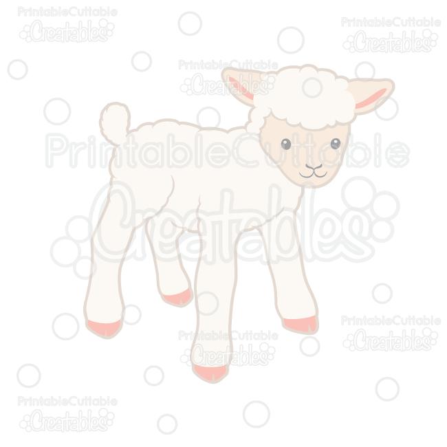 Lamb clipart svg. Cute cut file for