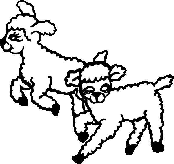 Lamb clipart svg. Jumping lambs clip art
