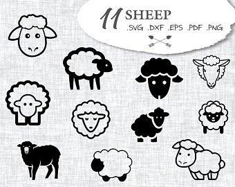 Sheep file etsy . Lamb clipart svg