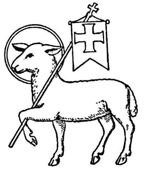 Lamb clipart symbol. Of christ as the