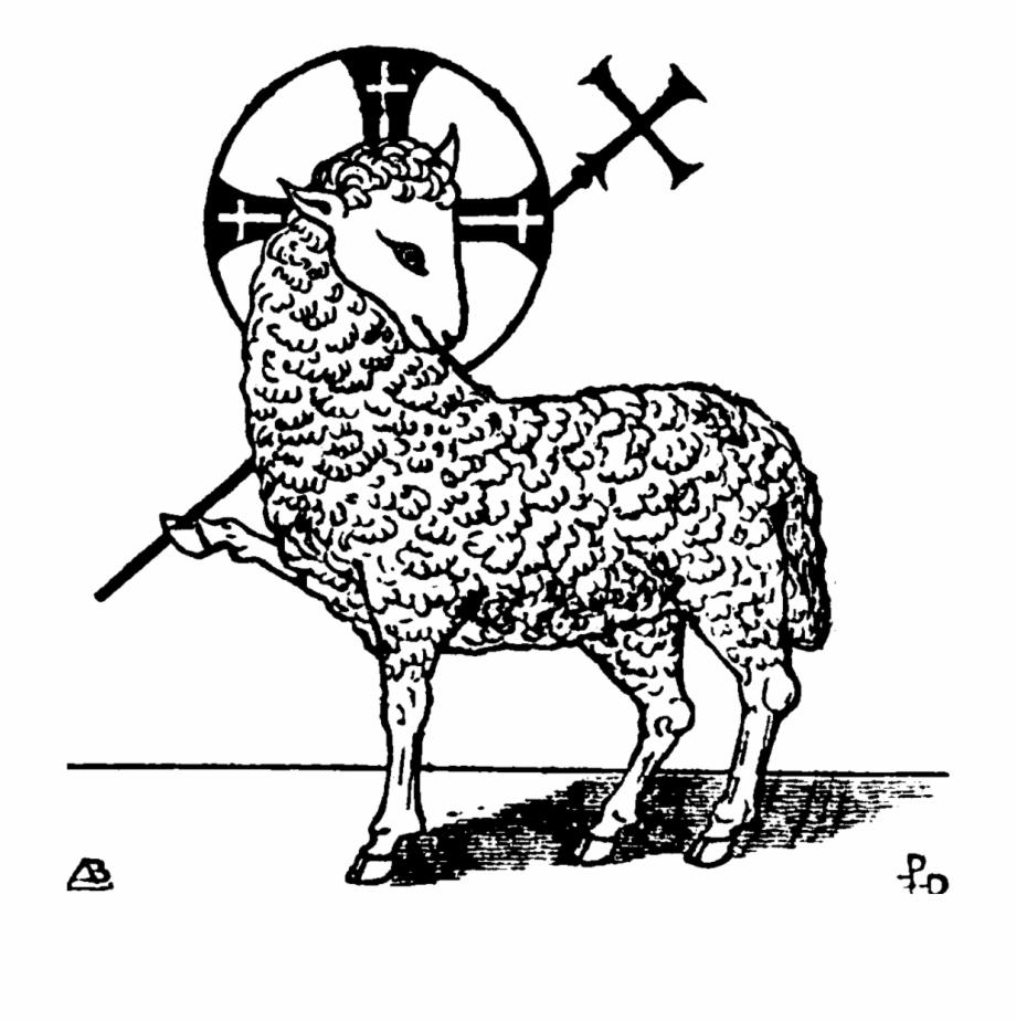Pictures of christian symbols. Lamb clipart symbol