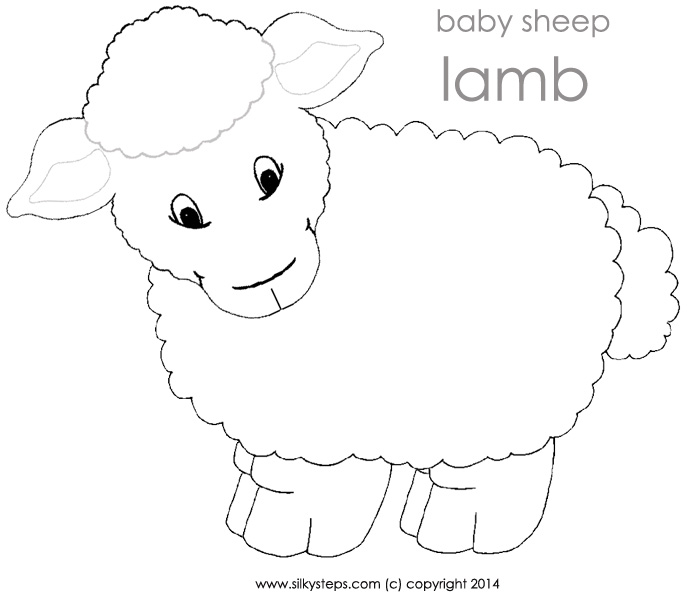 Lamb clipart template. Free sheep outline download