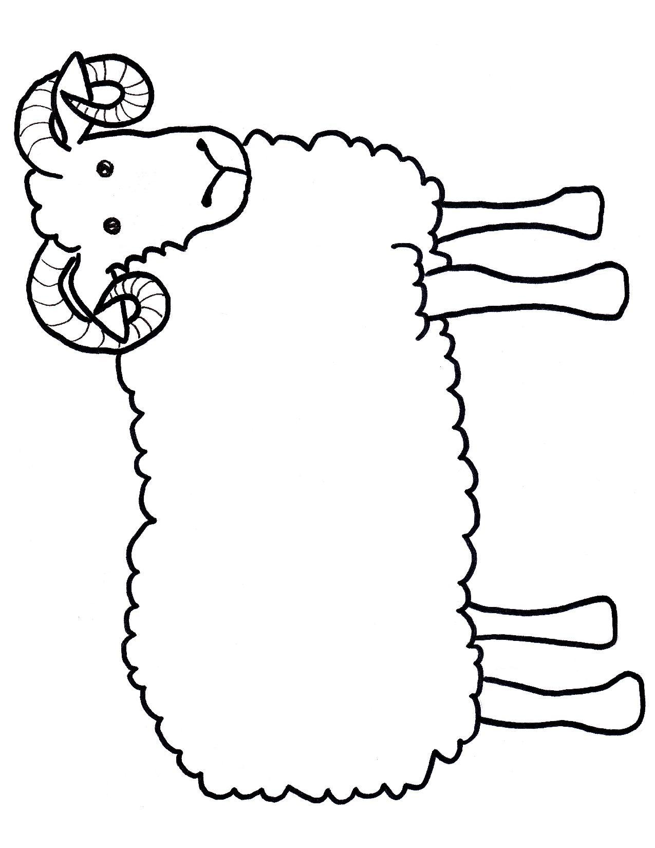 Free outline cliparts download. Lamb clipart template