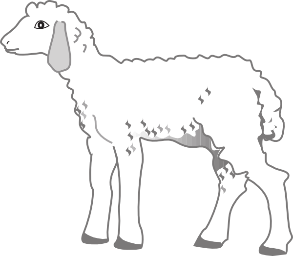 Lamb clip art at. Sheep clipart fluffy sheep