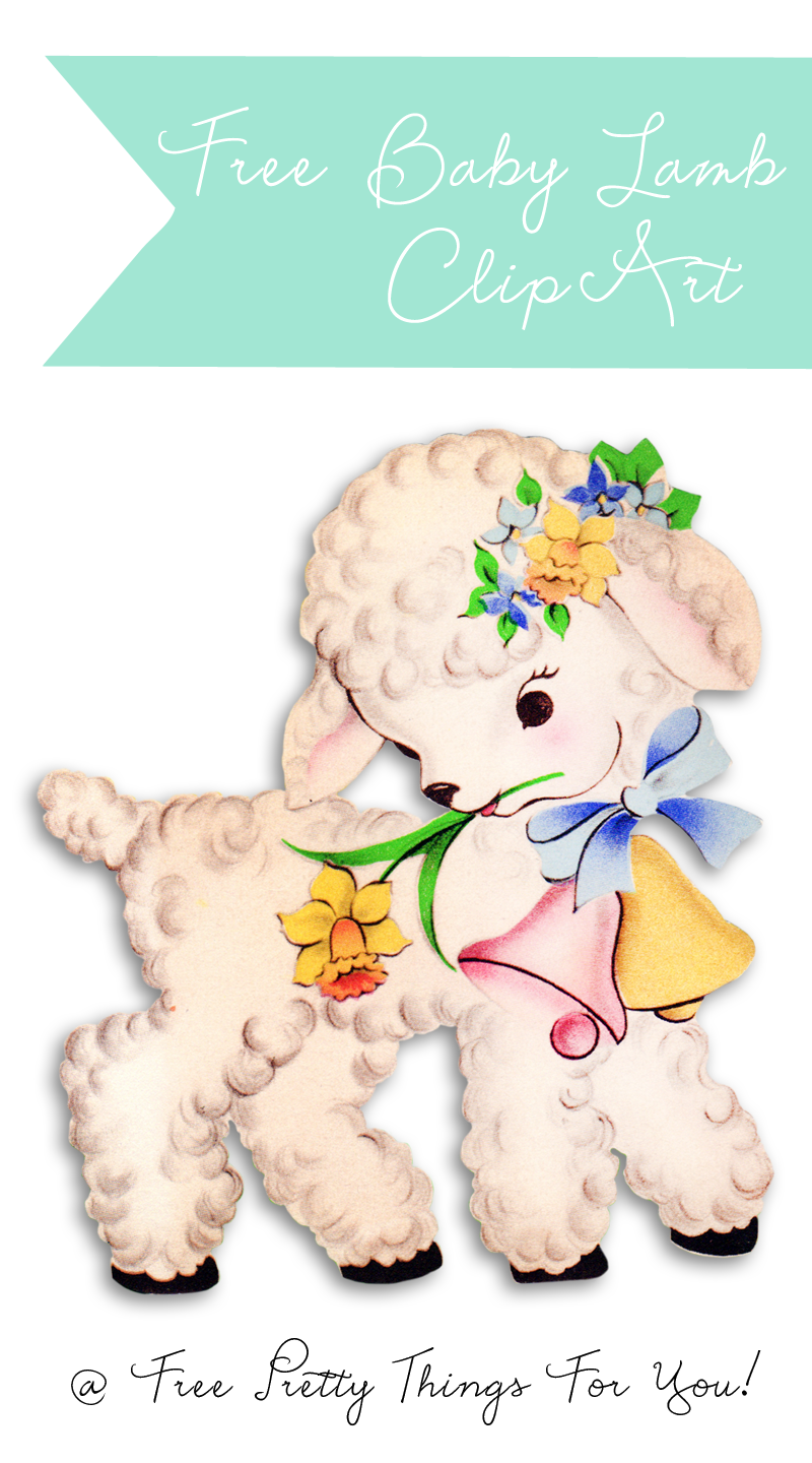 Free baby diy ideas. Lamb clipart vintage