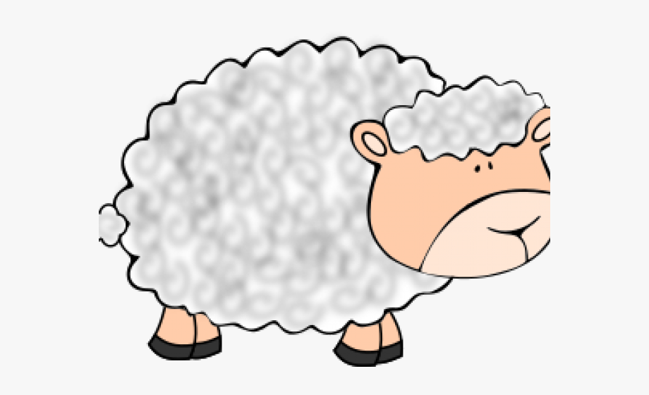 Fuzzy wool cliparts . Lamb clipart wooly sheep