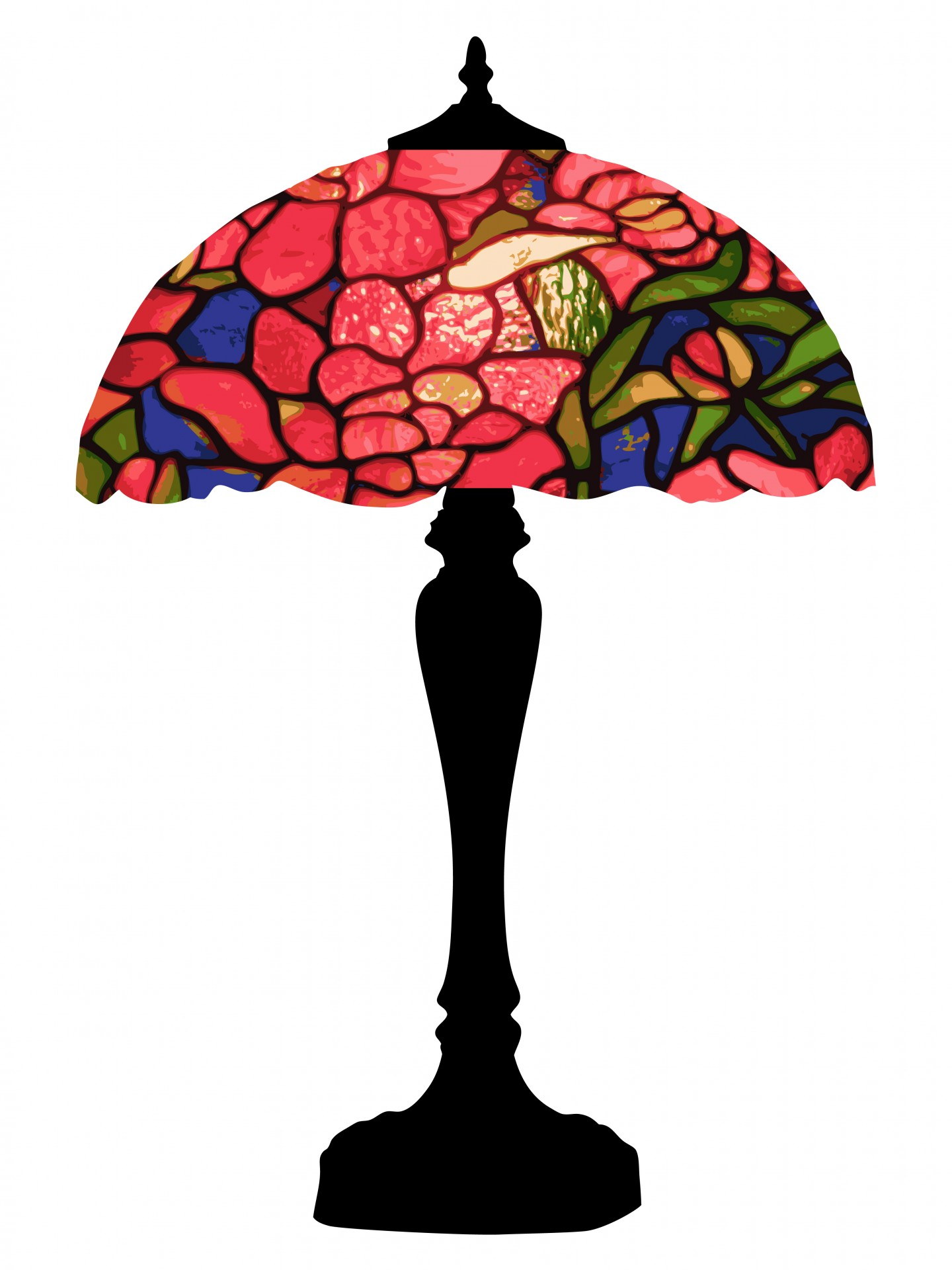 Tiffany colorful free stock. Lamp clipart