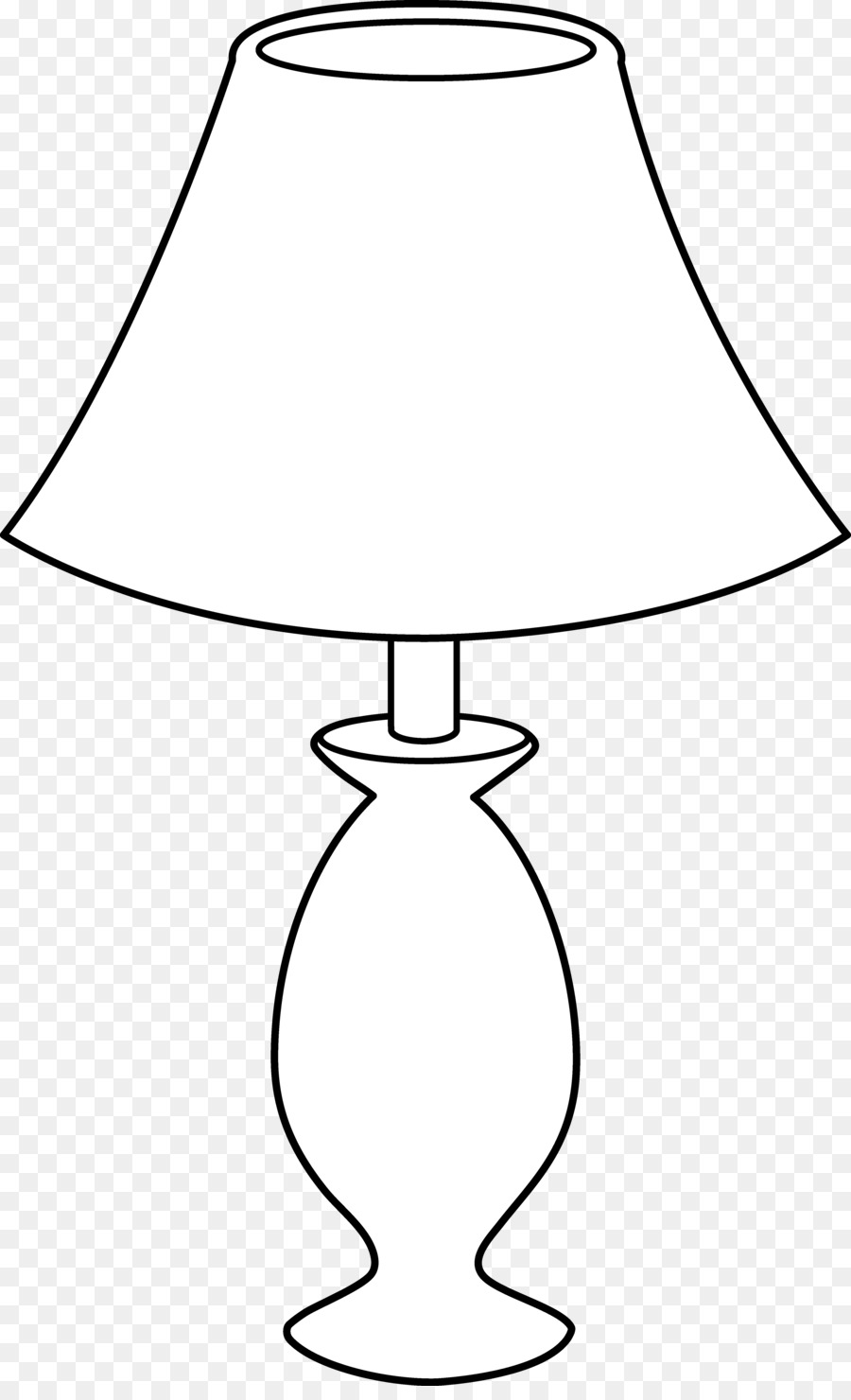 Table black and white. Lamp clipart