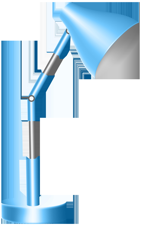 Lamp clipart. Blue desk png clip