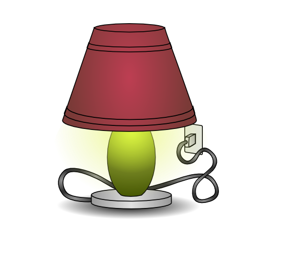Lamp clipart. Plugged in clip art