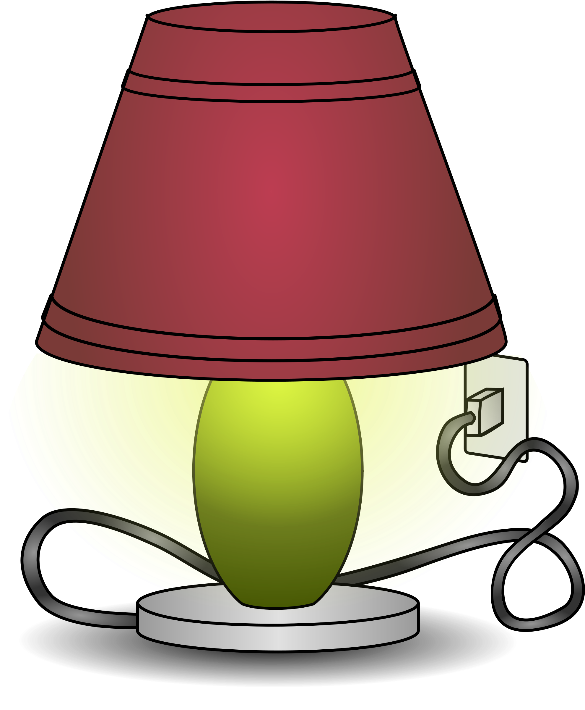 Lamp clipart. New