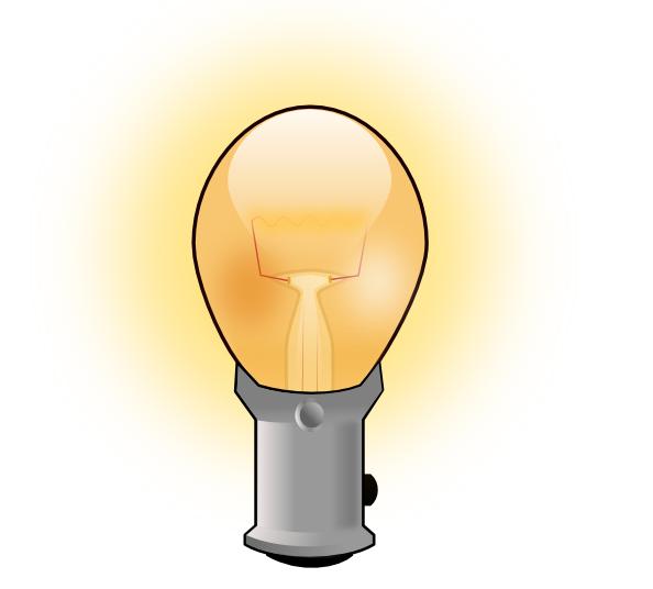 Light bulb clip art. Lamp clipart animation