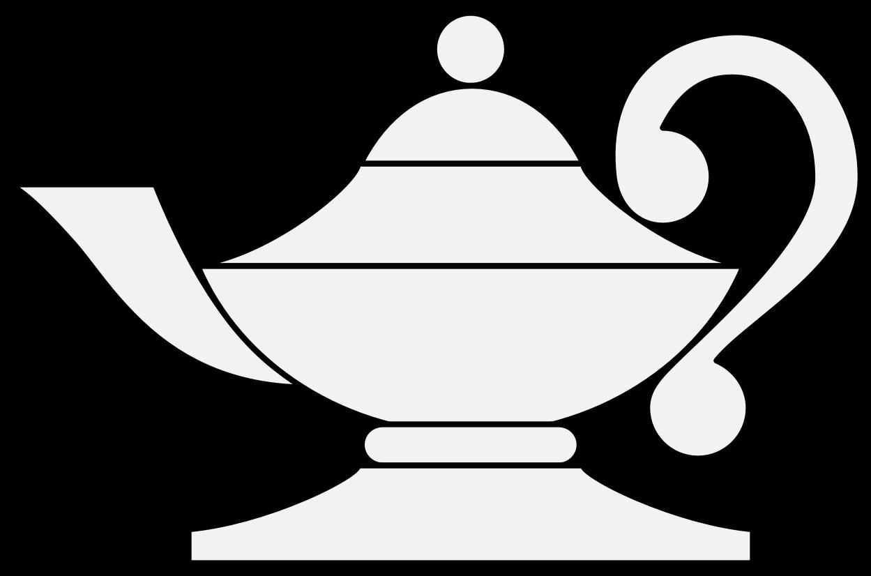 Lamp clipart arabian. Traceable heraldic art page