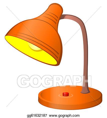 Table stock illustration gg. Lamp clipart artwork