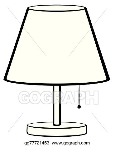 Vector illustration gg . Lamp clipart bed lamp