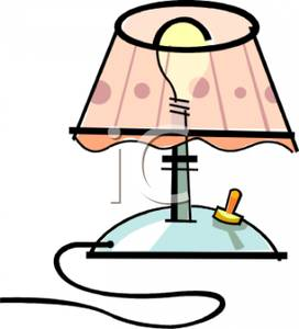 Lamp clipart bed lamp. A colorful cartoon of
