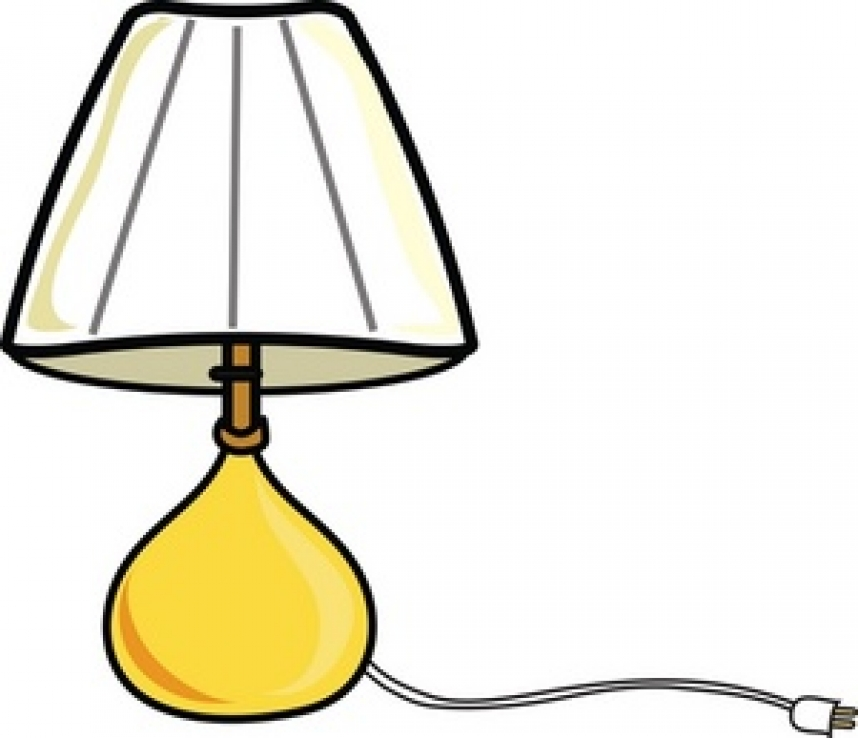 Lampshade pencil and in. Lamp clipart bedroom lamp