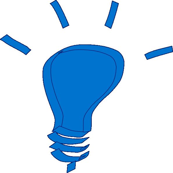 Lamp clipart bilb. Blue light bulb clip