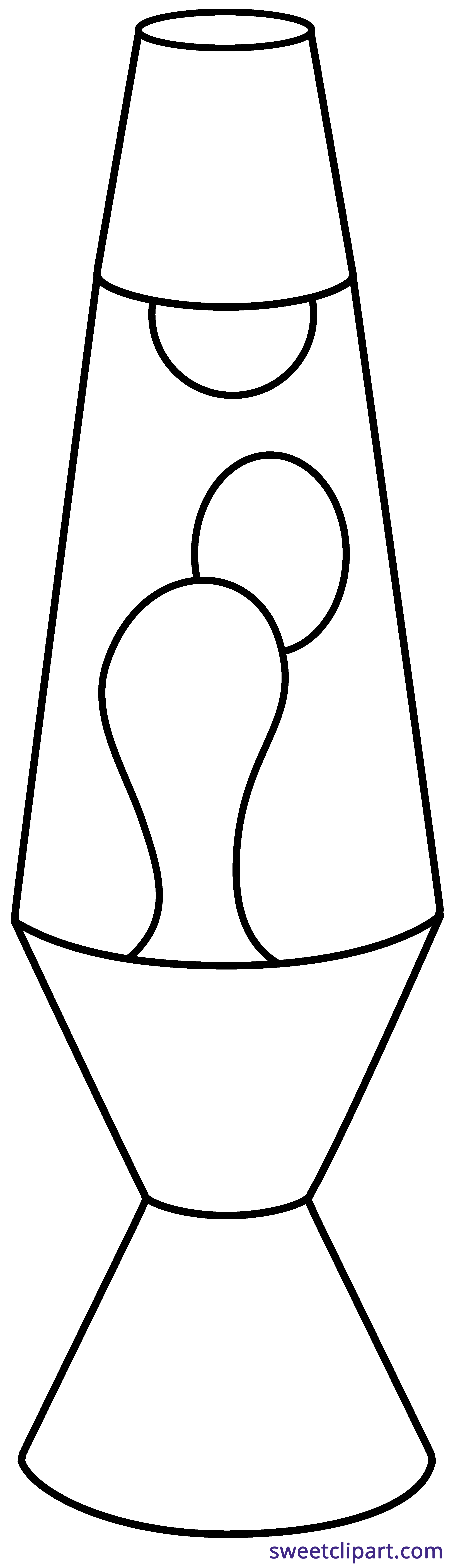Lamp clipart black and white.  collection of outline
