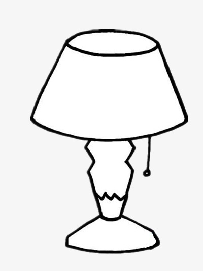 Simple table stick f. Lamp clipart black and white