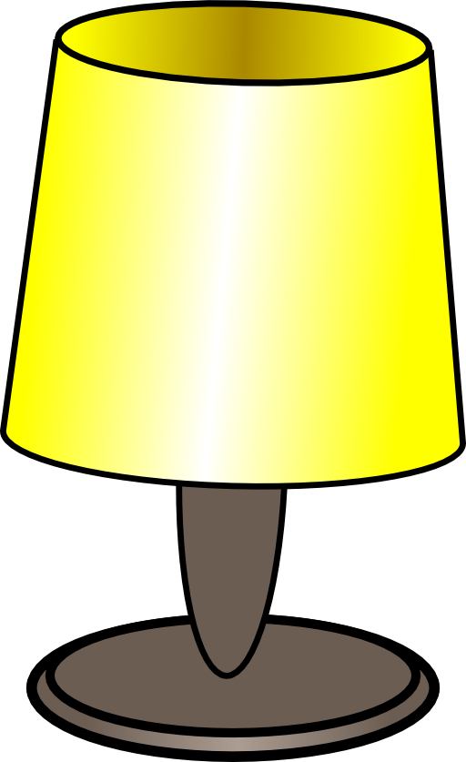 Lamp clipart brain. Table i royalty free