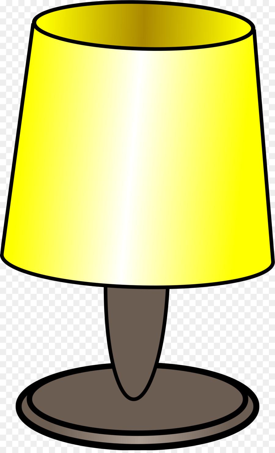 Lamp clipart cartoon. Light bulb yellow