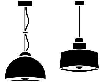 Lamp clipart ceiling lamp. Graphic etsy